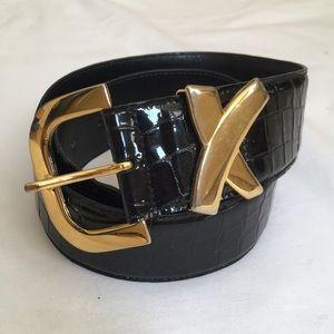 Paloma Picasso gold X belt